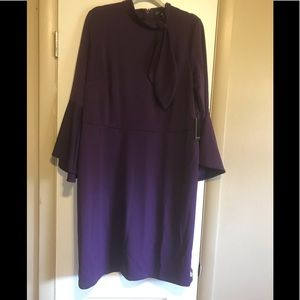 Purple Long Sleeve Dress 2/Bell Sleeves Size 18
